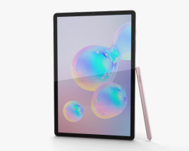 3D model of Samsung Galaxy Tab S6 Rose Blush