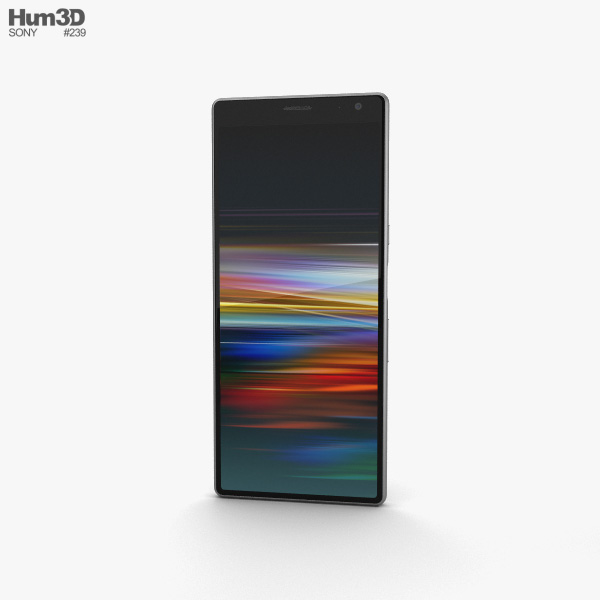 Sony Xperia 10 Plus Silver 3D model