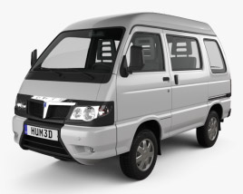 3D model of Piaggio Porter Glass Van 2009