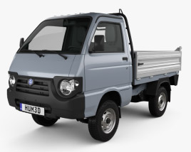3D model of Piaggio Quargo Tipper 2007