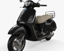 3D model of Piaggio Vespa GTS 2016