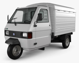 3D model of Piaggio Ape TM Panel Van 2016