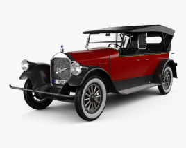Pierce-Arrow Model 33 7-passenger Touring 1924 3D model