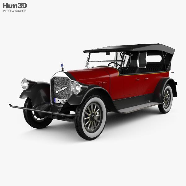3D model of Pierce-Arrow Model 33 7-passenger Touring 1924