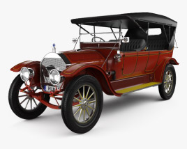 3D model of Pierce-Arrow Model 66-A 7-passenger Touring 1913