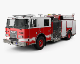 3D model of Pierce Fire Truck Pumper 2011