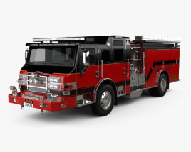 3D model of Pierce E402 Pumper Fire Truck 2014