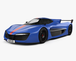 3D model of Pininfarina H2 Speed 2019