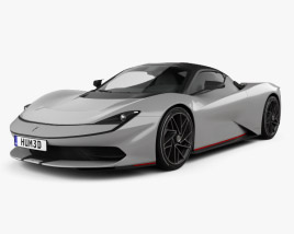 3D model of Pininfarina Battista 2020