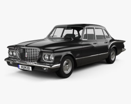 3D model of Plymouth Valiant sedan 1960