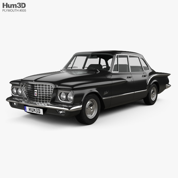 Plymouth Valiant sedan 1960 3D model