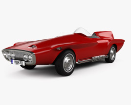 3D model of Plymouth XNR 1960