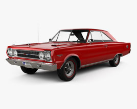 Plymouth Belvedere GTX coupe 1967 3D model