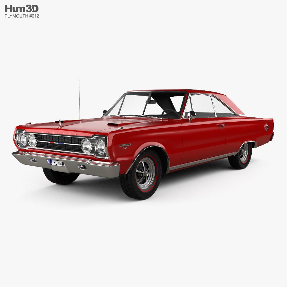 Plymouth Belvedere GTX coupe 1967 Modelo 3D