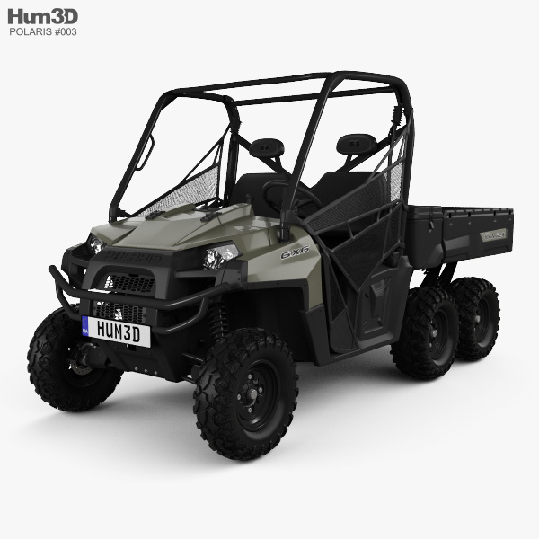 Polaris Ranger 6x6 2014 3D model