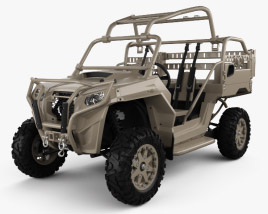 3D model of Polaris MRZR 2 Military Tan 2016