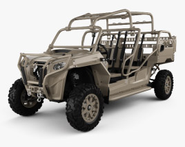 3D model of Polaris MRZR 4 Military Tan 2016
