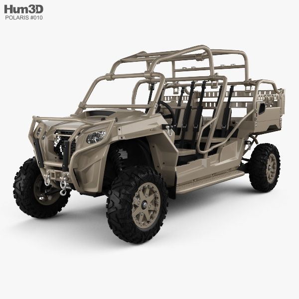 Polaris MRZR 4 Military Tan 2016 3D model