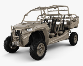 3D model of Polaris MRZR D4 Military Tan 2016