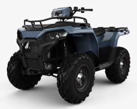 3D model of Polaris Sportsman 570 2021