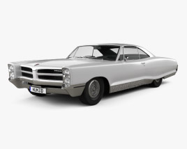 3D model of Pontiac Bonneville Hardtop 2-door 1966