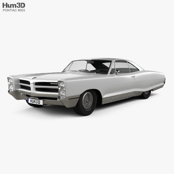 Pontiac Bonneville Hardtop 2-door 1966 3D model