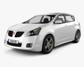 3D model of Pontiac Vibe 2009