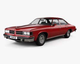 3D model of Pontiac Grand LeMans sedan 1976