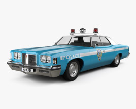 3D model of Pontiac Catalina Police 1972