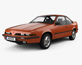 3D model of Pontiac Sunbird GT Coupe 1986