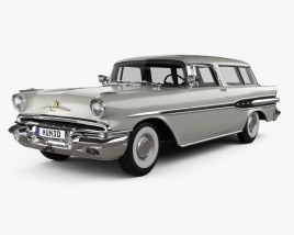3D model of Pontiac Star Chief Custom Safari 2-door 1957