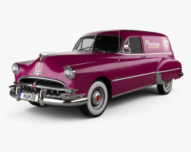 3D model of Pontiac Streamliner Six Sedan Delivery 1949