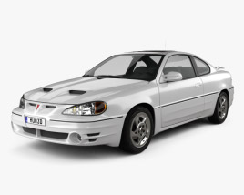 3D model of Pontiac Grand Am coupe 1999