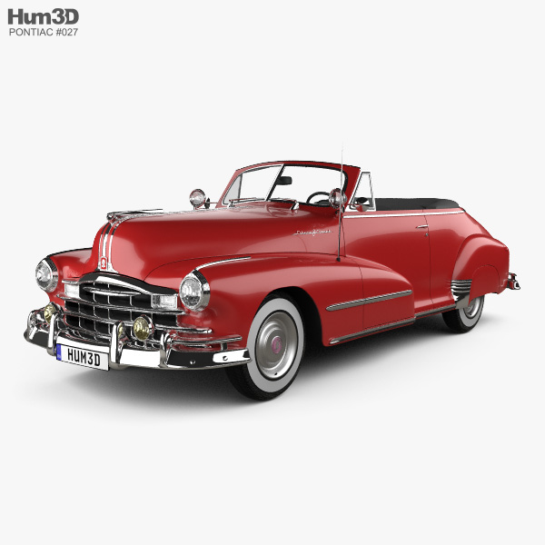 3D model of Pontiac Torpedo Eight Deluxe Convertible 1948
