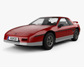 3D model of Pontiac Fiero GT 1985