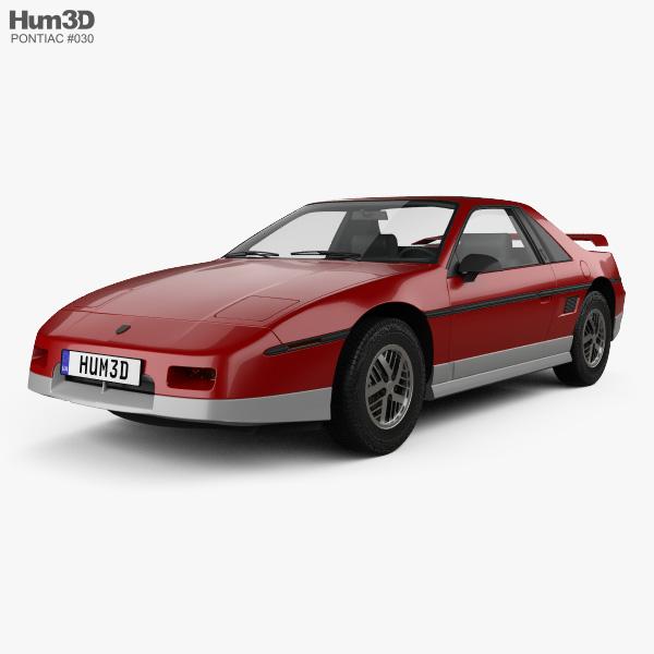 Pontiac Fiero GT 1985 3D model