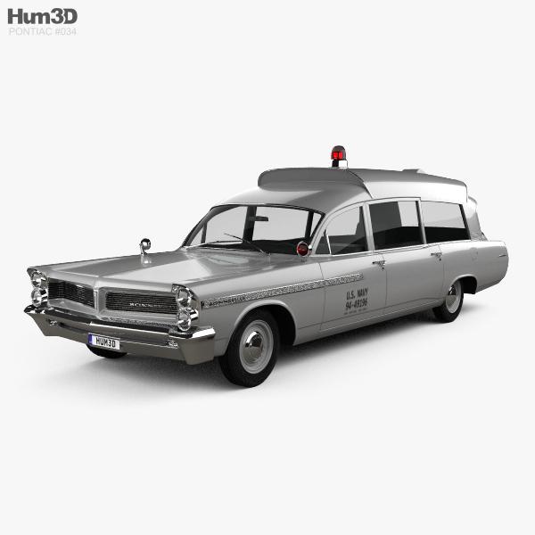 Pontiac Bonneville Station Wagon Ambulance Kennedy 1963 3D model