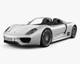 3D model of Porsche 918 spyder 2011