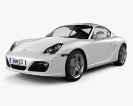 3D model of Porsche Cayman S 2011