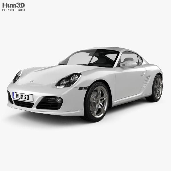 3D model of Porsche Cayman S 2011