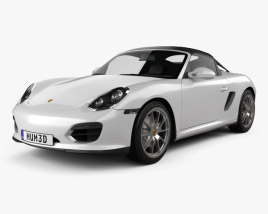 3D model of Porsche Boxster Spyder 2011