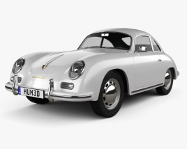 3D model of Porsche 356A coupe 1959