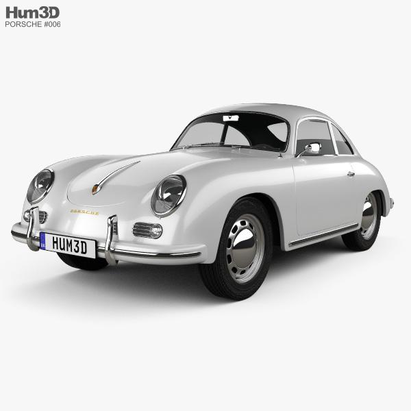 3D model of Porsche 356A coupe 1959