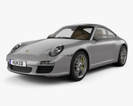 3D model of Porsche 911 Carrera Coupe 2011