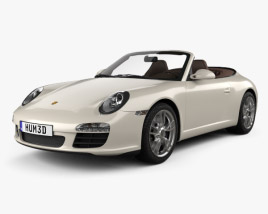 3D model of Porsche 911 Carrera Cabriolet 2011