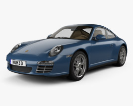 3D model of Porsche 911 Carrera 4 Coupe 2011