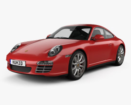3D model of Porsche 911 Carrera 4S Coupe 2011