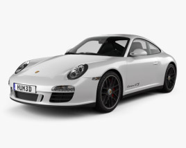 3D model of Porsche 911 Carrera GTS Coupe 2011