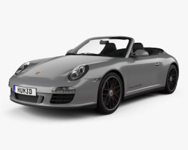 3D model of Porsche 911 Carrera 4GTS Cabriolet 2011