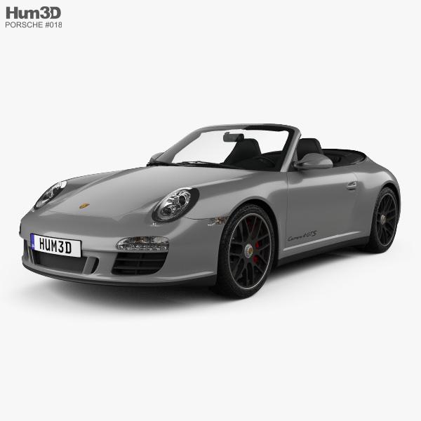 Porsche 911 Carrera 4GTS Cabriolet 2011 3D model